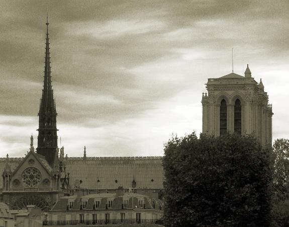 パリのノートル・ダム大聖堂の写真(2010年10月29日撮影)