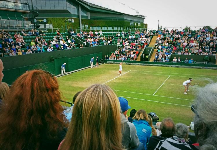 Wimbledon 2015: a doubles match on No. 3 Court