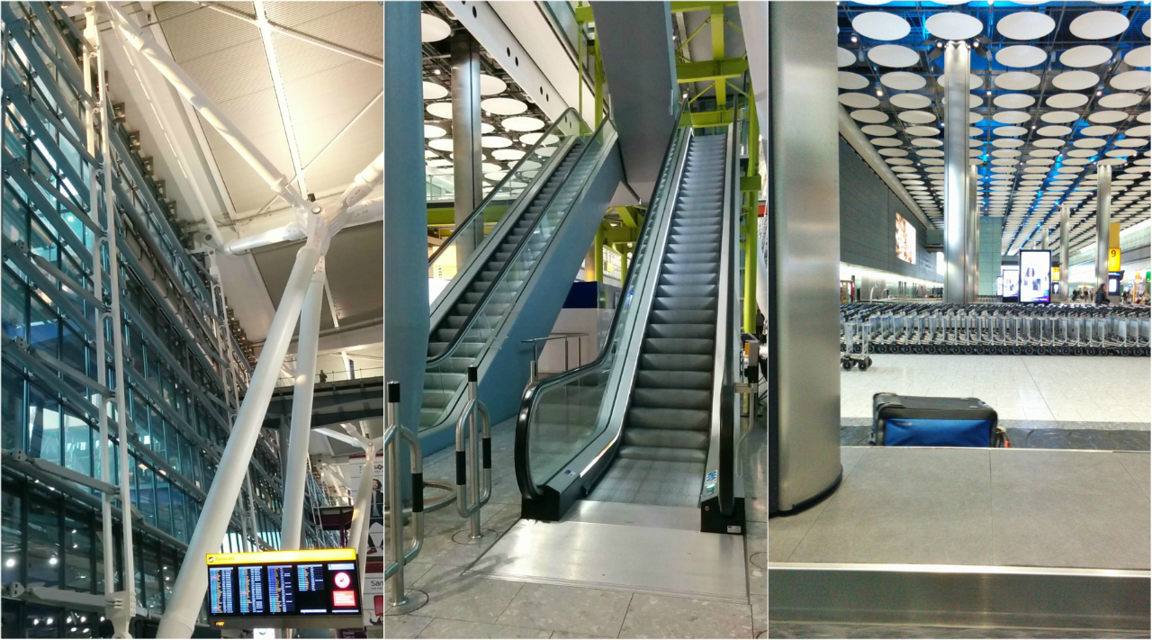 Arrivals, Terminal 5, London Heathrow (28 October 2017)