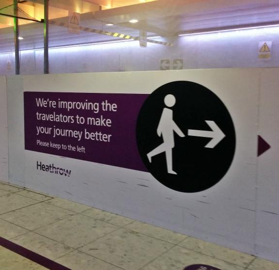 Non-moving travelator, London Heathrow