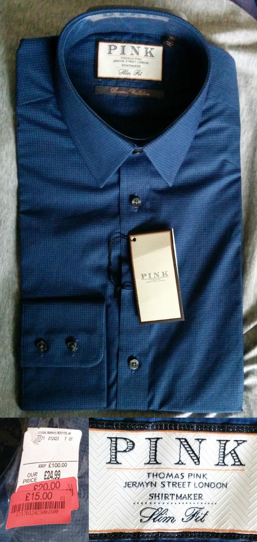 £15で買ったスリム・フィットのシャツ。