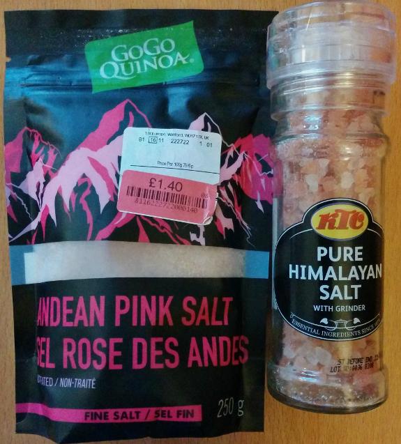 最近買ったヒマラヤ岩塩とアンデス岩塩