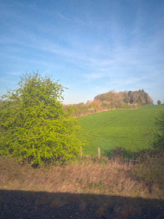 バンベリーからオックスフォードまで電車に乗っていたときに撮影した英国の田園風景