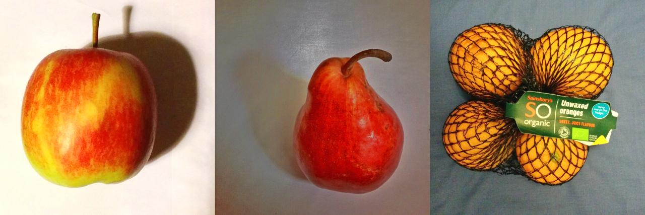 リンゴ・洋梨・オレンジ