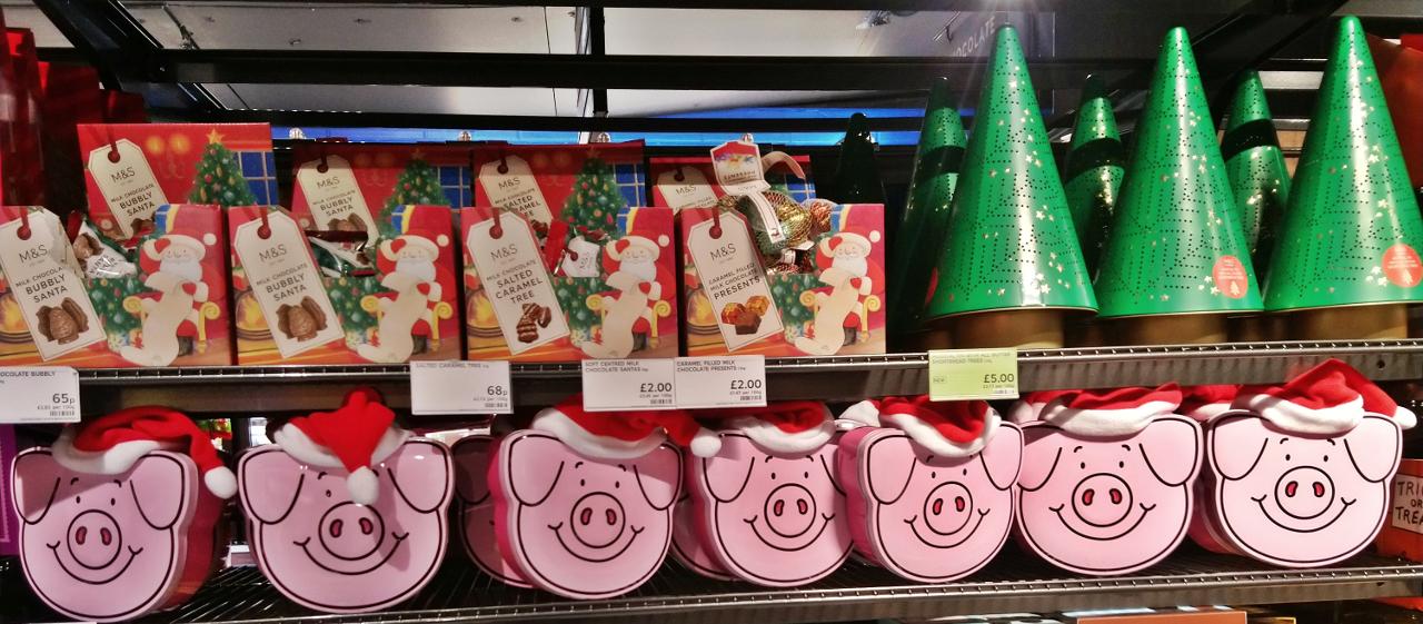 ロンドンのスーパーにあったクリスマス商品