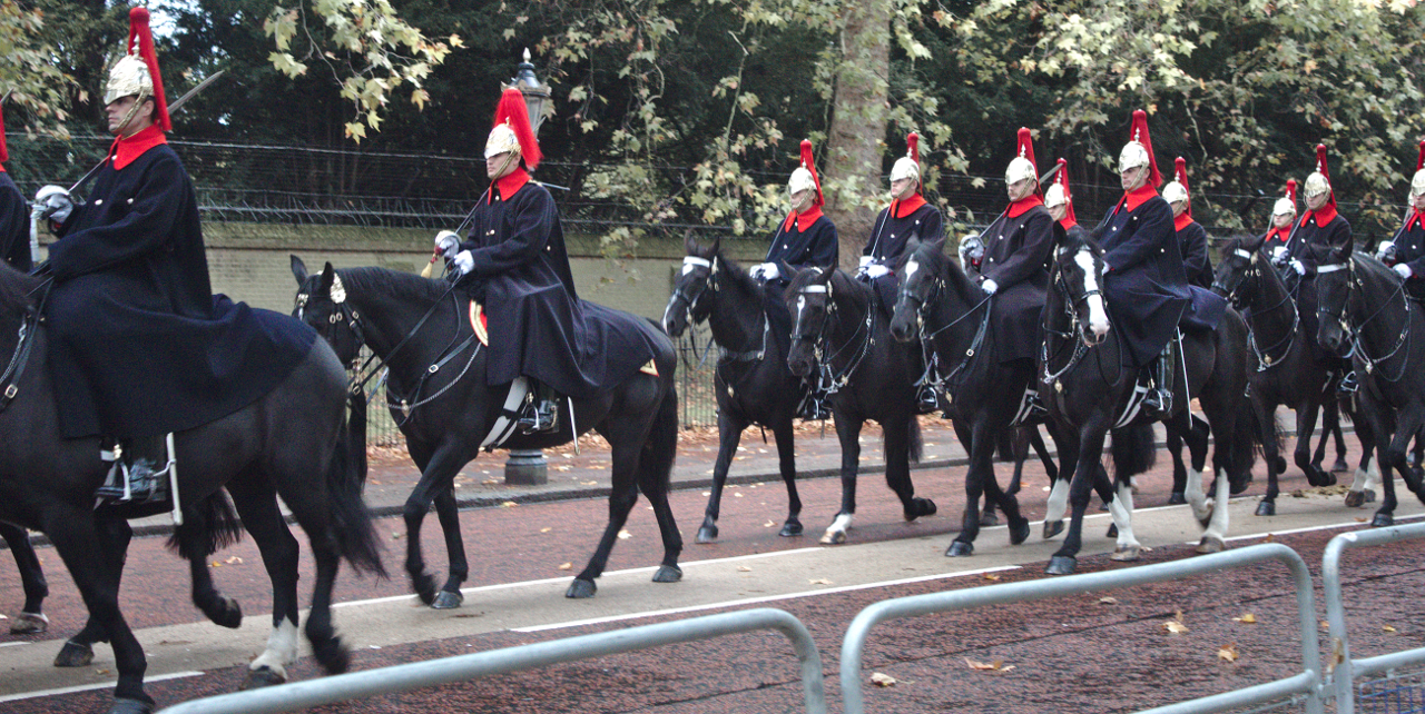 The Blues and Royals, photographed on Constitution Hill, London, 14 October 2019 (1)