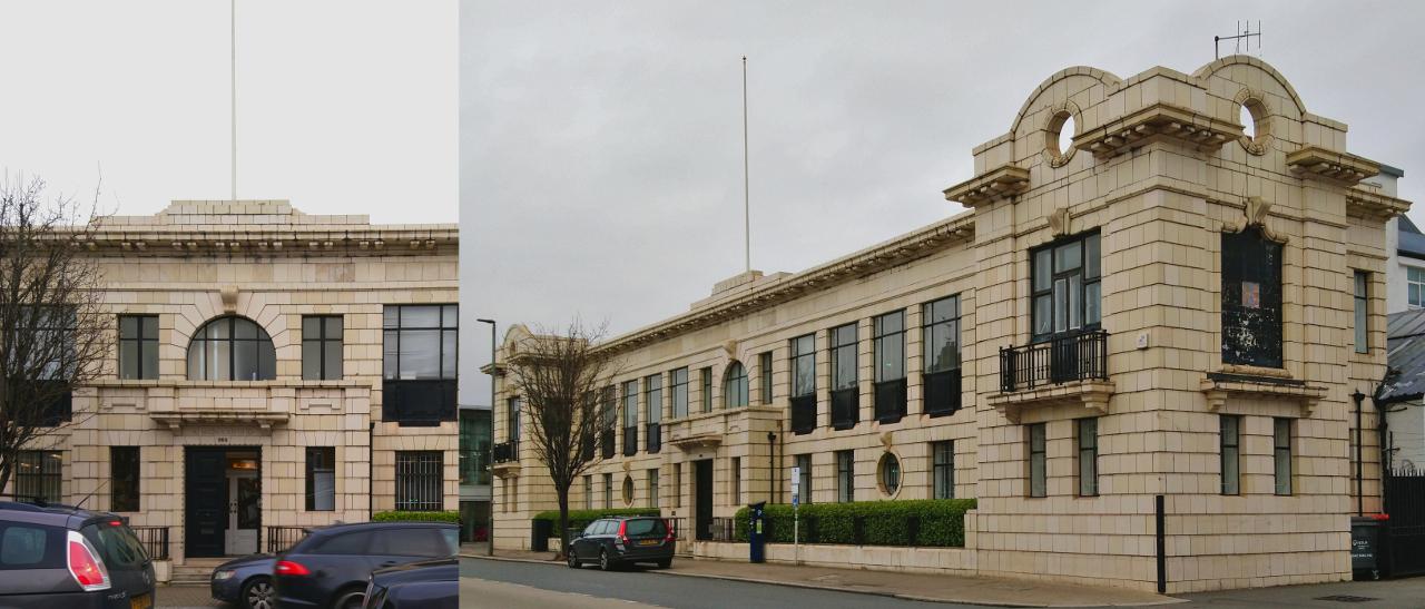 265 Merton Rd: アール・デコ様式の建物【2020年2月14日撮影】