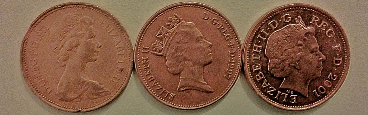 英国の2ペンス玉(表)