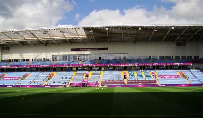 サッカー:日本対スウェーデン(試合が行われたコヴェントリーのサッカー場)