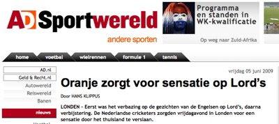 Dutch newspaper: screenshot (1/2)