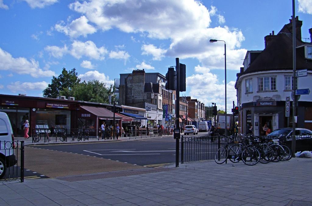 Outside London Underground Southfields station