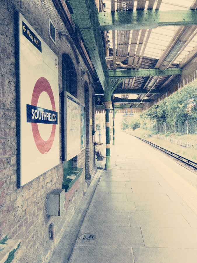 Southfields London Underground station: edited