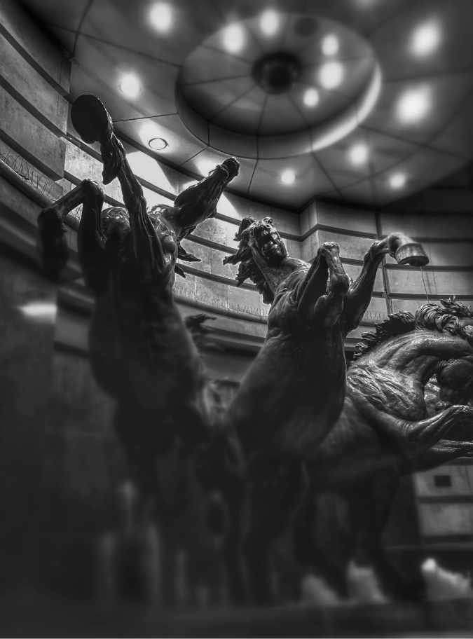 Four Horses of Helios, Piccadilly (21 October 2014): edited