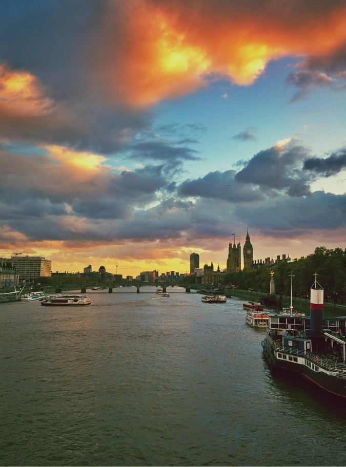 Westminster Bridge and the Houses of Parliament (21 October 2014): edited