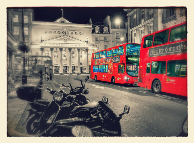 London buses (21 October 2014): Google+ Photos auto-awesome effects