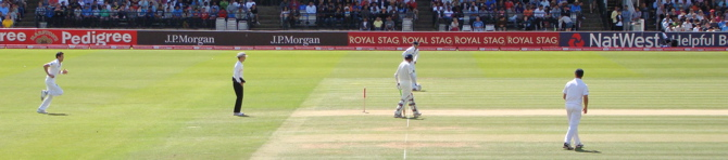 James Anderson bowling from the Nursery End (1/4)