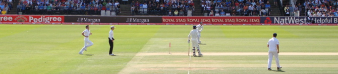 James Anderson bowling from the Nursery End (2/4)