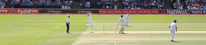 James Anderson bowling from the Nursery End (3/4)