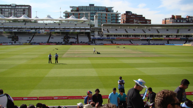 A view from the Grand Stand, Lord's Cricket Ground