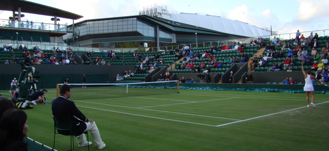 Wimbledon Tennis Championships Day 3—Court 3: Andrea Petković v Stéphanie Dubois