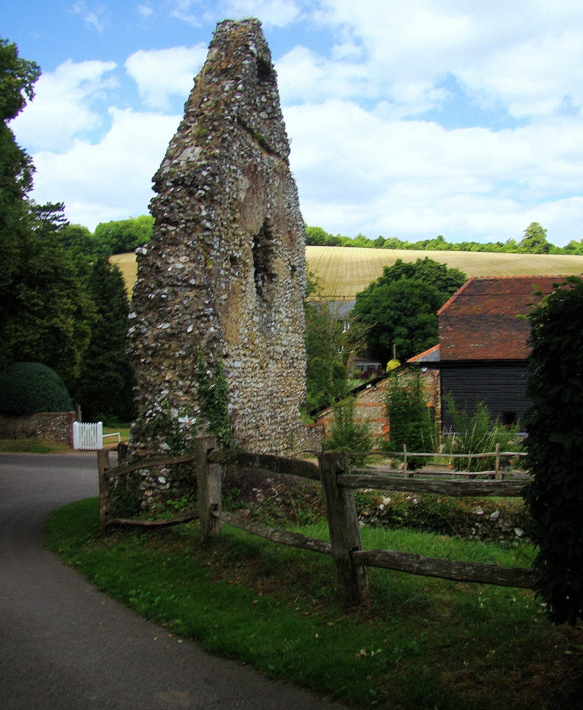 Remains of Westhumble Chapel (10 August 2013)