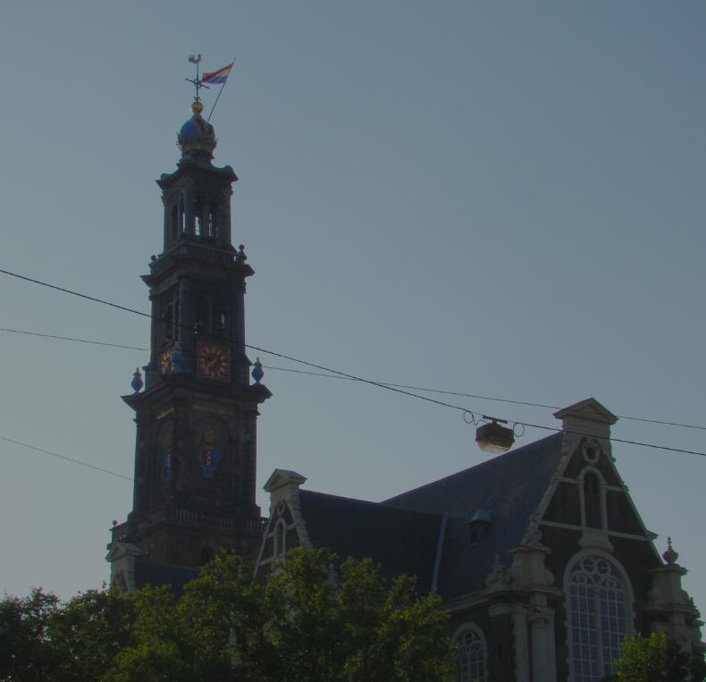 オランダ・アムステルダムの Westerkerk (西教会)の写真