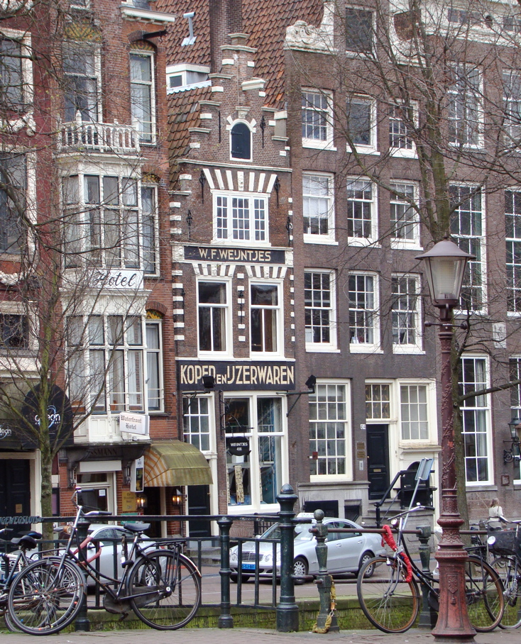 Photograph of a row of houses in Amsterdam. (11 April 2010)