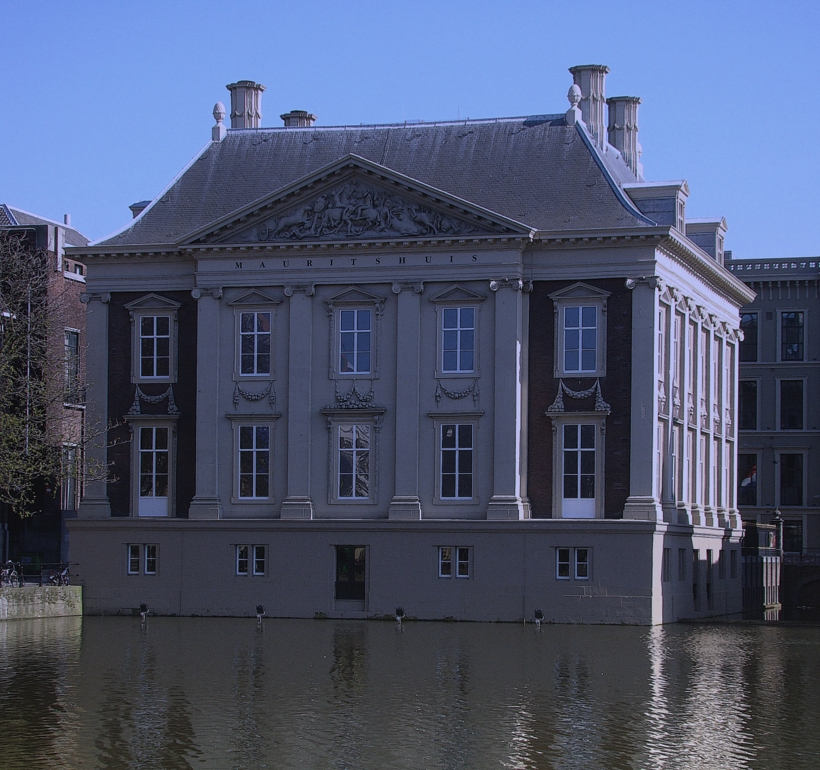 Photograph of Mauritshuis (exterior), home to many famous paintings, in The Hague. (17 April 2010)
