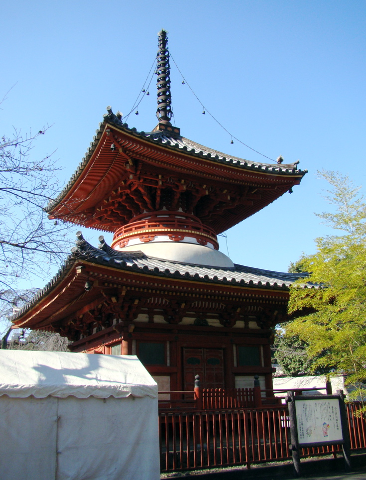 Photograph—Kawagoe │ Kita-in Temple │ Two-storey pagoda, (Tahōtō)