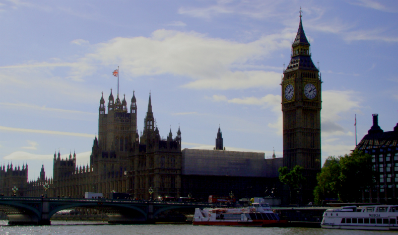 Photograph of Palace of Westminster (Houses of Parliament).