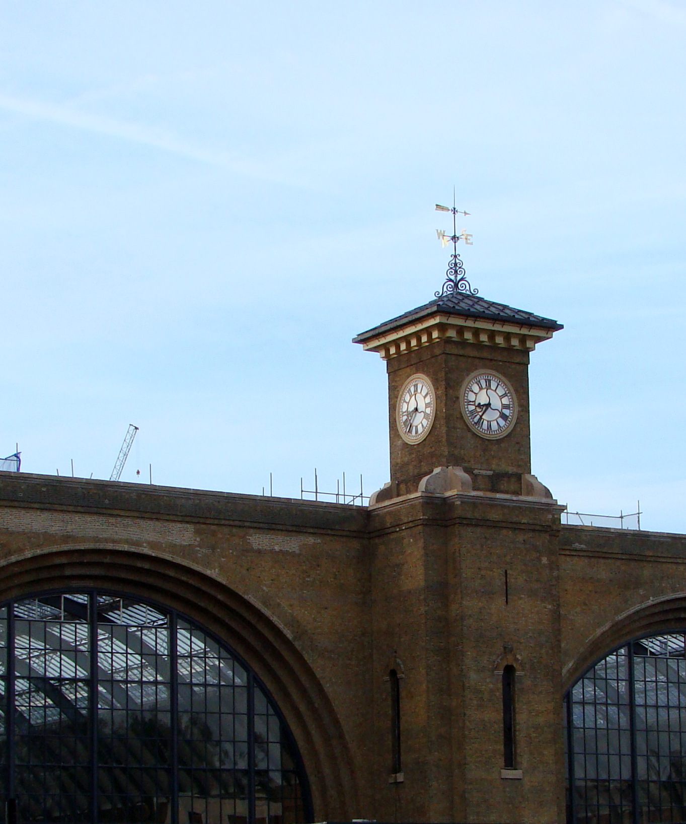 King's Cross Station (exterior: clock tower)