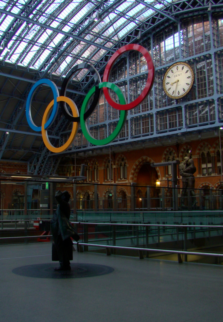 Photograph of St Pancras International Station's upper concourse
