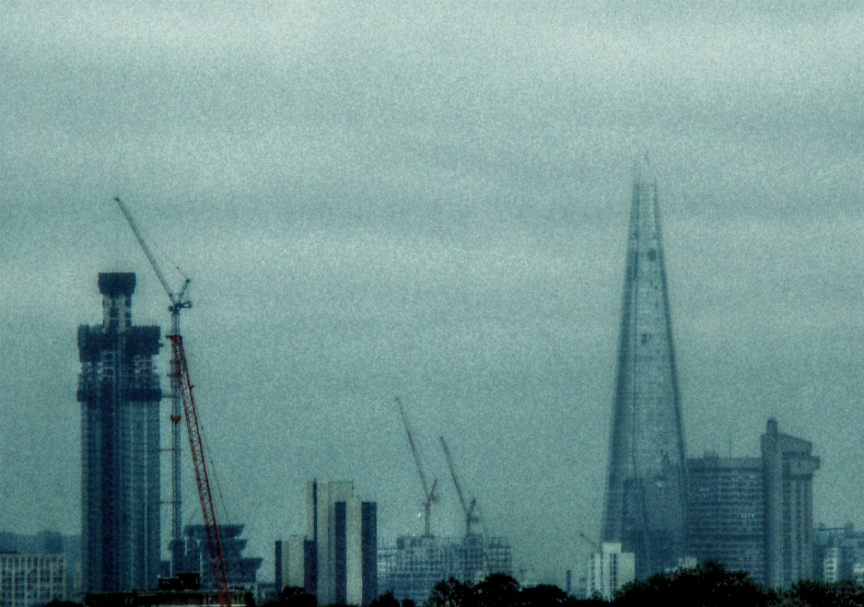 Photograph of The Shard, a skyscraper in London nearing its completion. (2 July 2012)