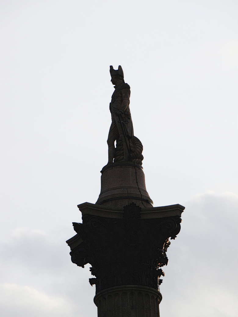 Photograph of Nelson's Column in Trafalgar Square, London.