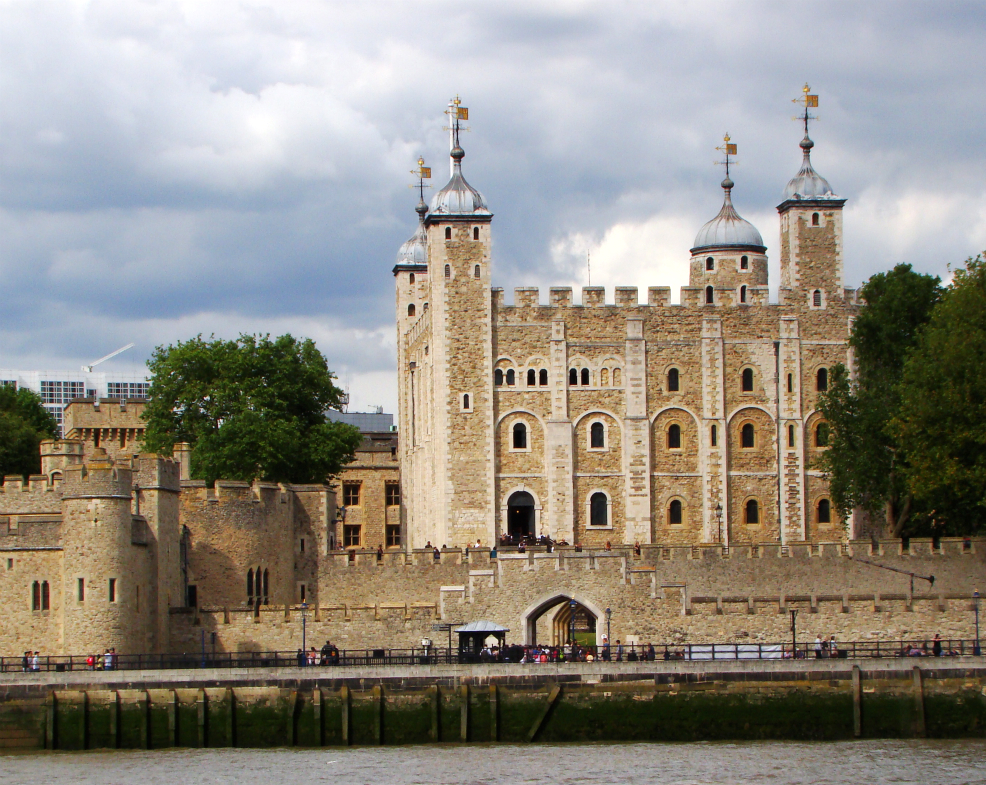 A photograph of Tower of London, as seen from the river on board Thames Clipper.