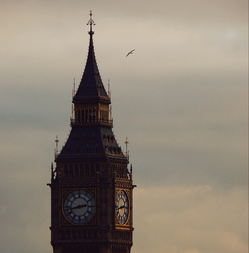 The Elizabeth Tower (the Clock Tower) of the Palace of Westminster