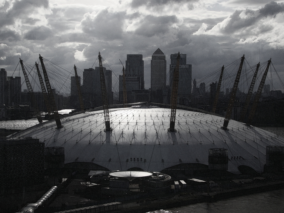 O2 Arena, as seen from Emirates Air Line