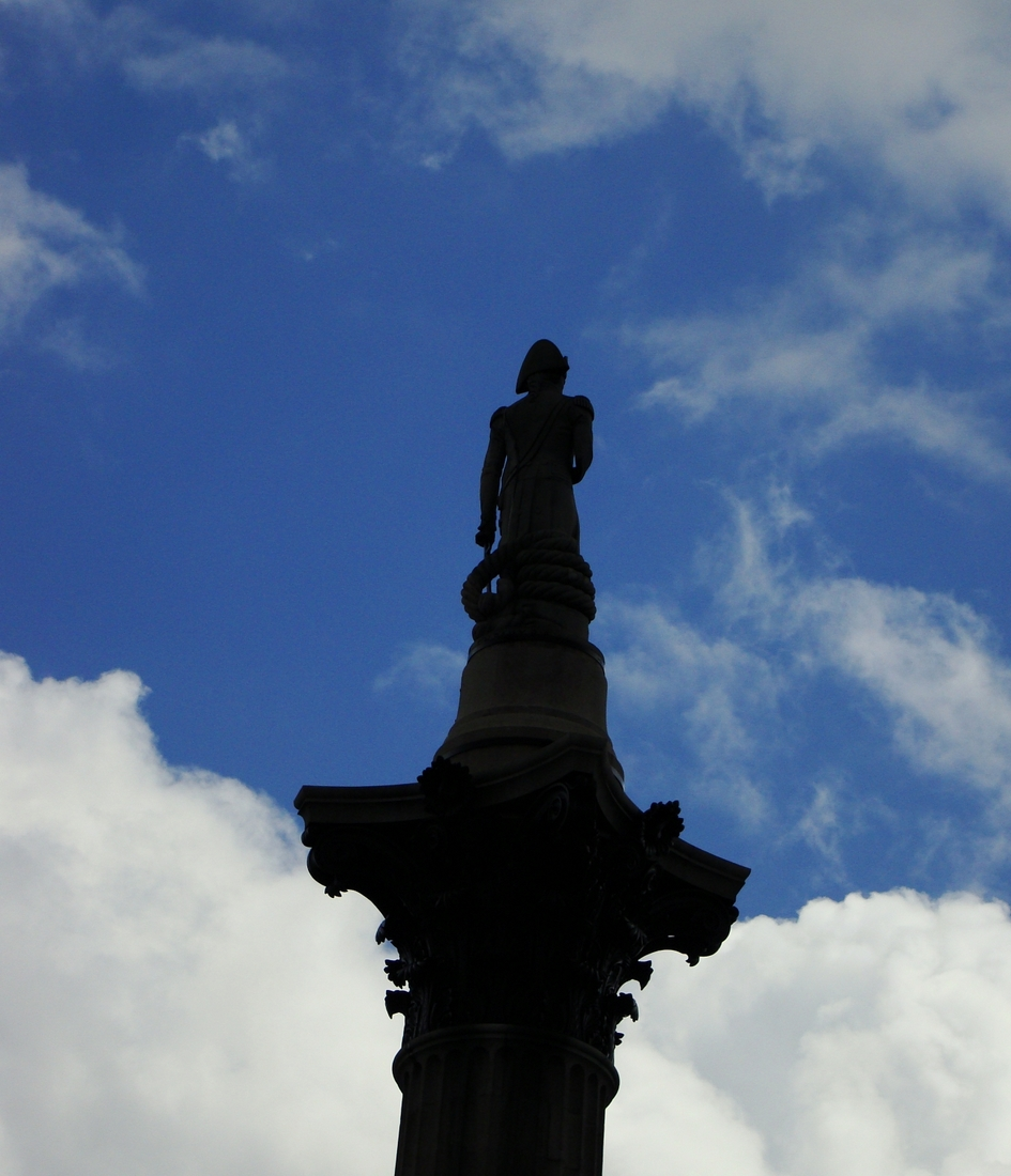 Photograph of Nelson's Column in Trafalgar Square, London.
