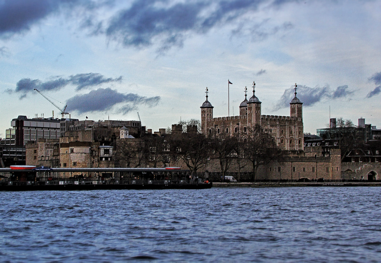 Tower of London, photographed on 1 February 2013