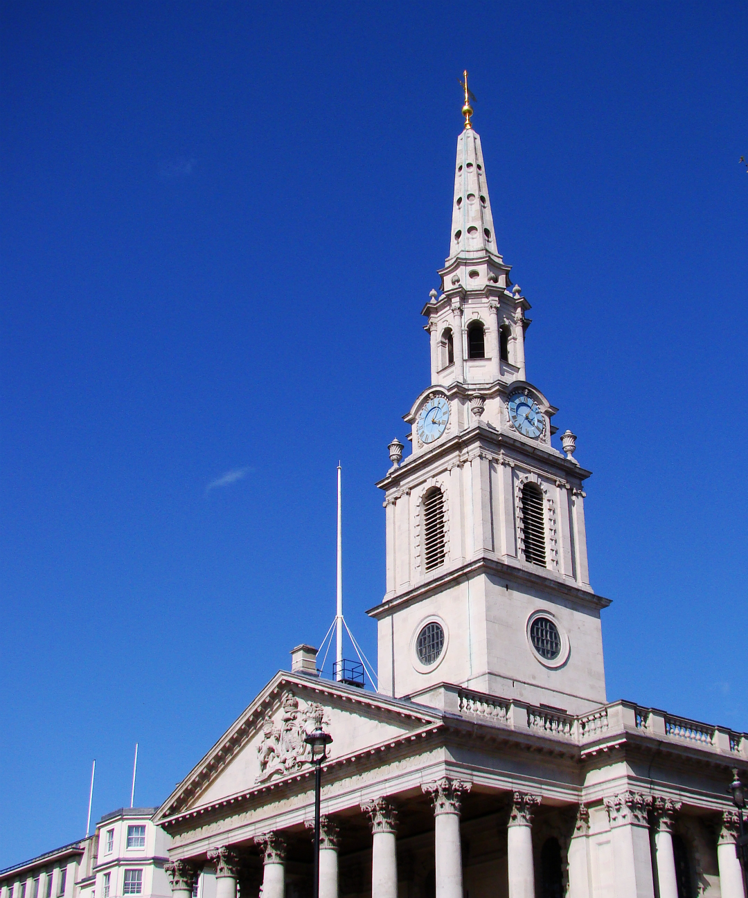 St Martin-in-the-Fields, London, photographed on 4 May 2013