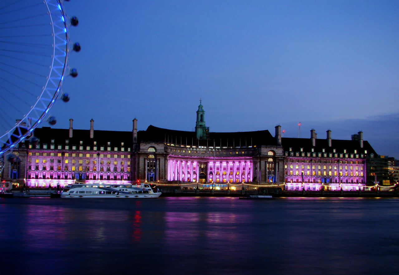 County Hall, London, photographed on 4 December 2013