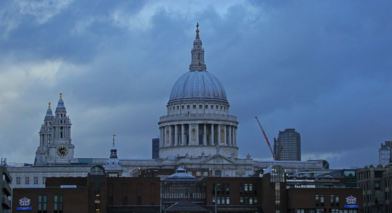 St Paul's Cathedral, London, photographed on 22 January 2014