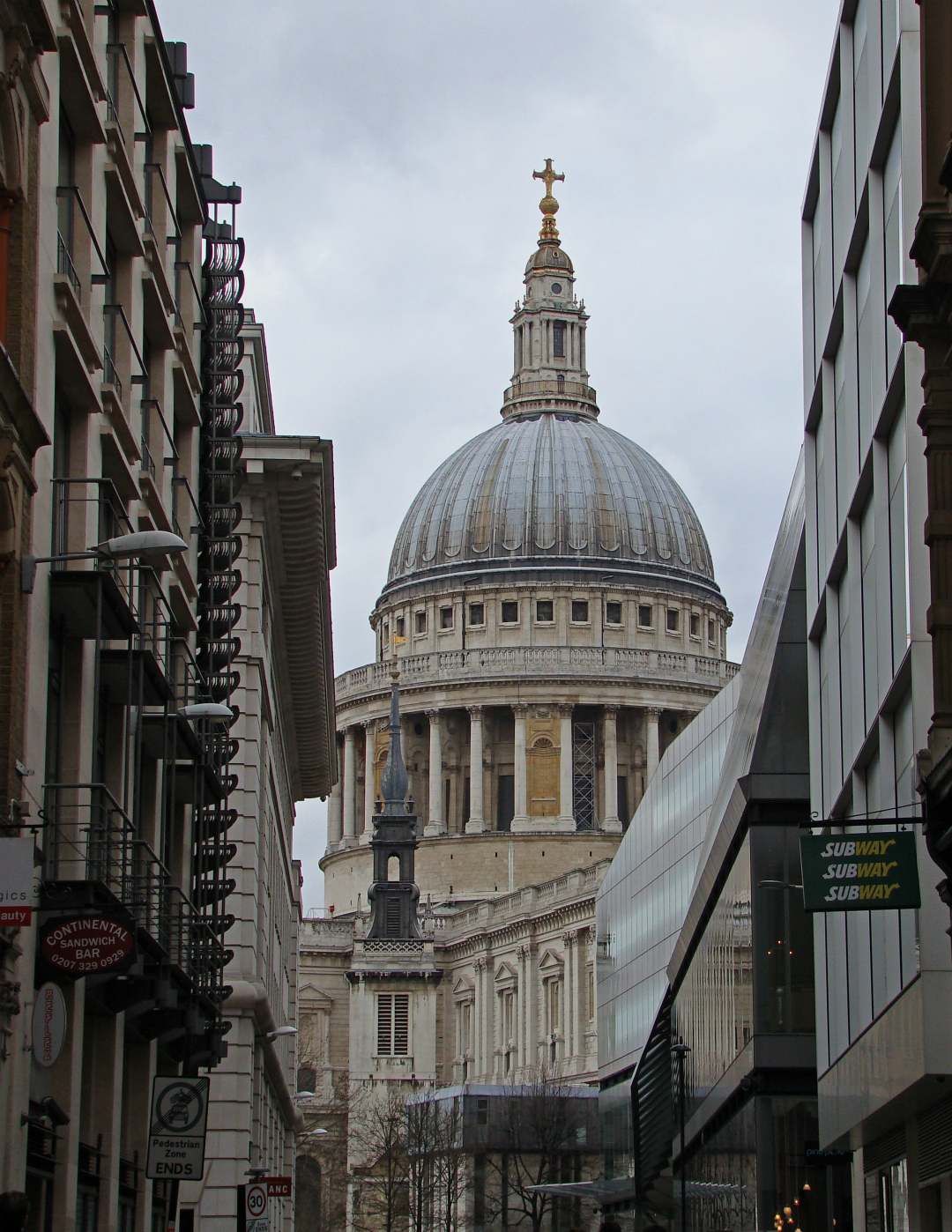 St Paul's Cathedral, London, photographed on 24 February 2014