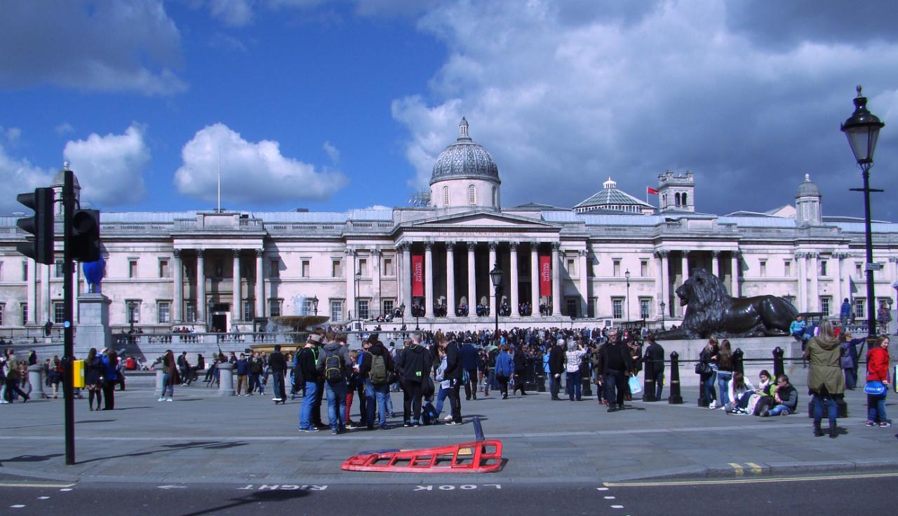 National Gallery, Trafalgar Square, London, photographed on 8 April 2014