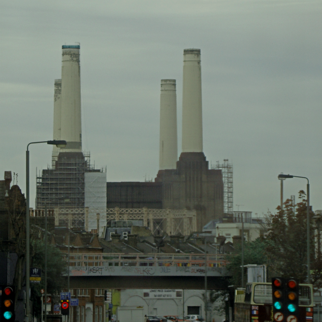 Battersea power station, London, photographed on 12 April 2014