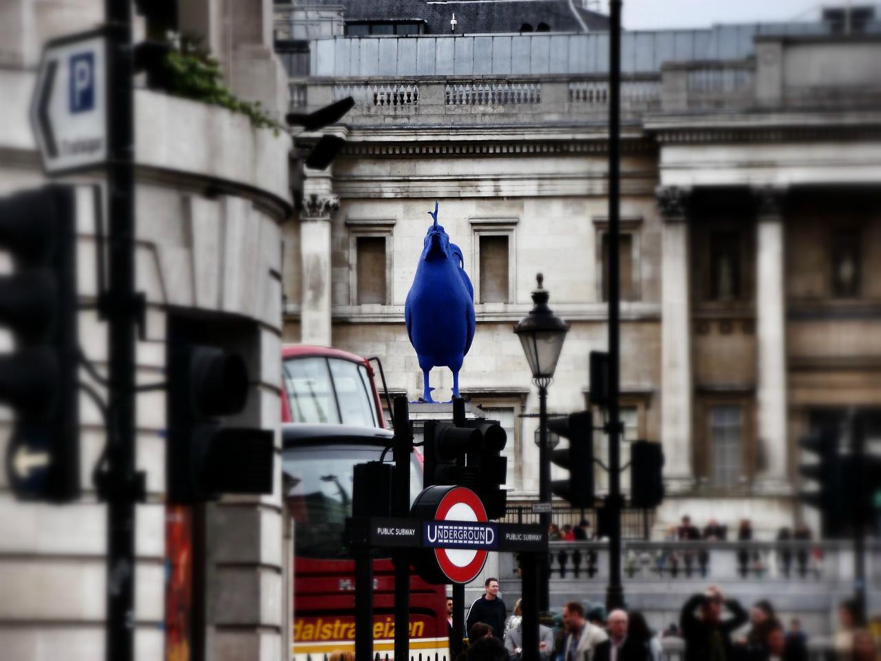 Hahn/Cock, the Fourth Plinth, Trafalgar Square, London, photographed on 12 April 2014