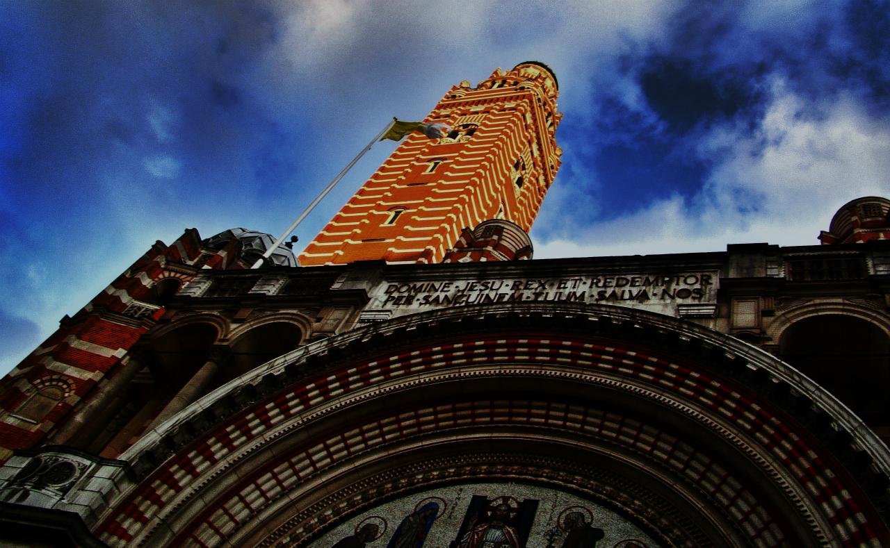 ロンドンのウェストミンスター大聖堂の写真1葉。2014年4月19日撮影。