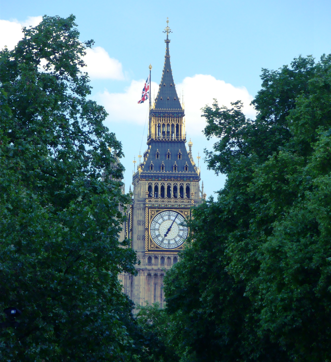 Queen Elizabeth II Tower / Clock Tower, Palace of Westminster, London, photographed on 7 June 2014