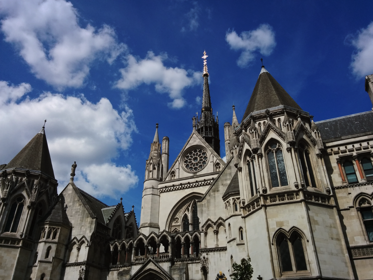 Royal Courts of Justice, London, photographed on 17 August 2015