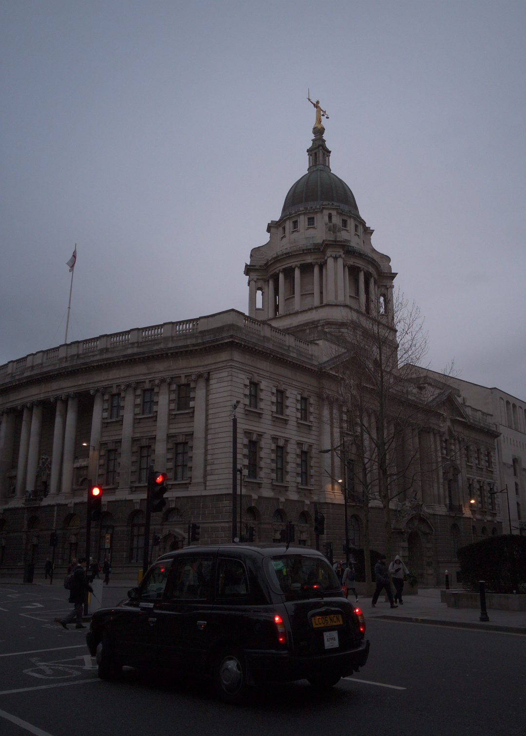 Central Criminal Court (Old Bailey), London, photographed on 8 March 2016